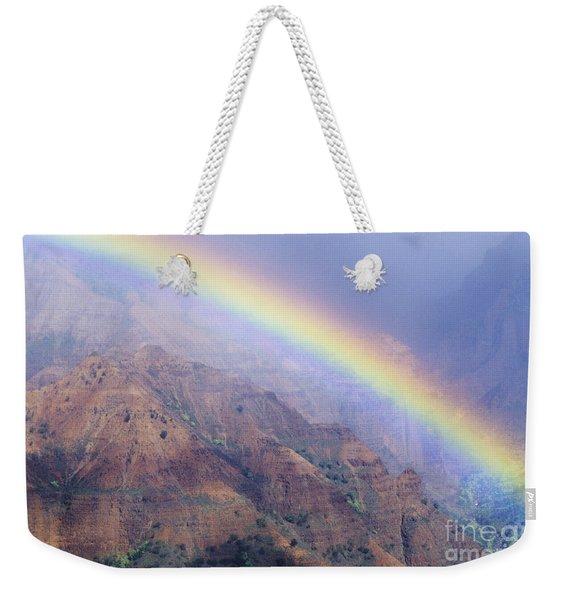 Waimea Canyon Rainbow Weekender Tote Bag