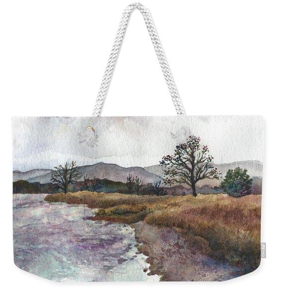 Walden Ponds On An April Evening Weekender Tote Bag