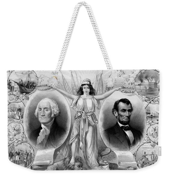 Washington And Lincoln Weekender Tote Bag