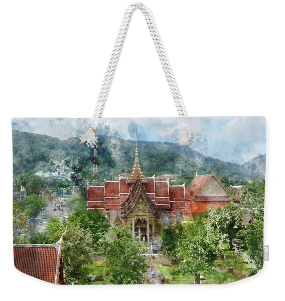 Wat Chalong In Phuket Thailand Weekender Tote Bag