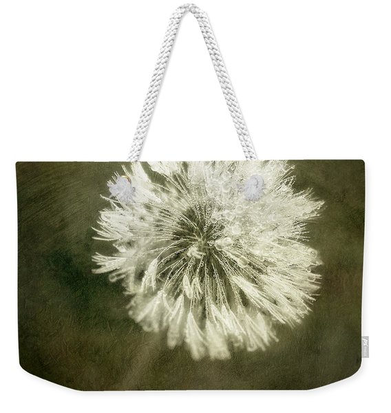 Water Drops On Dandelion Flower Weekender Tote Bag
