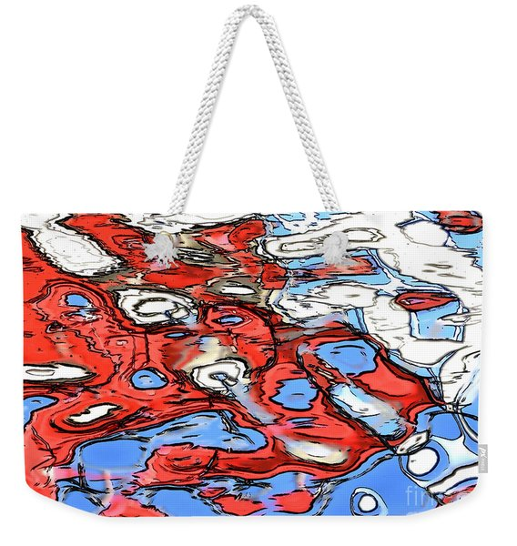 Water Reflection Abstract 2 Weekender Tote Bag