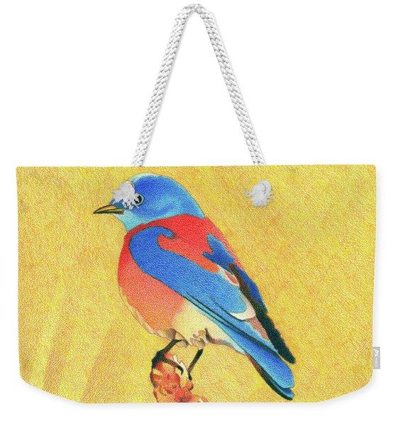 Western Bluebird Weekender Tote Bag