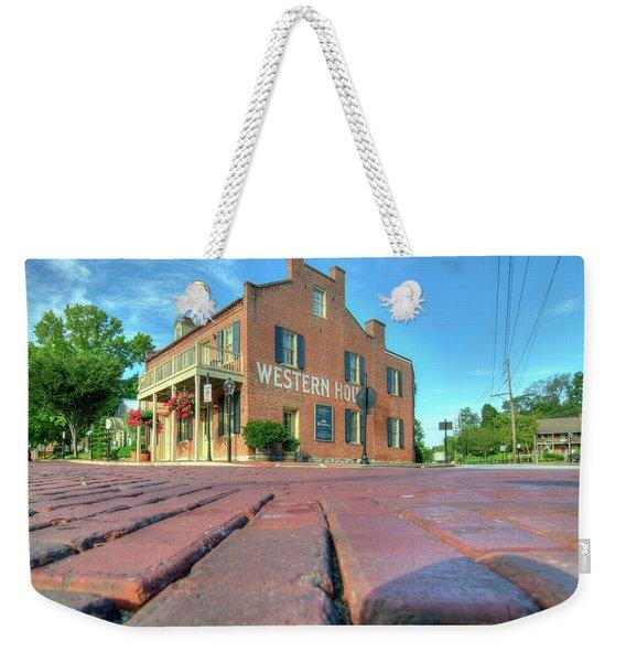 Western House Weekender Tote Bag