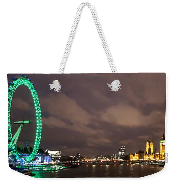 Westminster And The London Eye Weekender Tote Bag