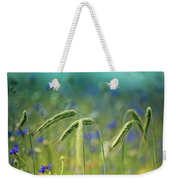Wheat And Corn Flowers Weekender Tote Bag