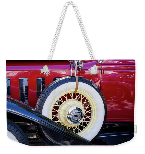 Wide Whitewall Spare Tire Weekender Tote Bag