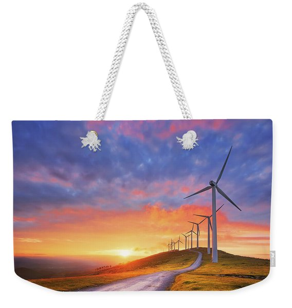 wind turbines in Oiz eolic park Weekender Tote Bag