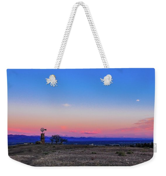 Windmill At Sunrise Weekender Tote Bag