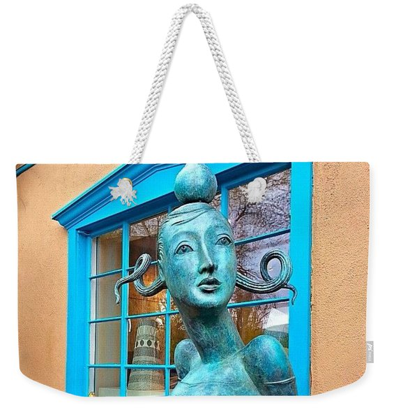 #windowshopping In #santafe #newmexico Weekender Tote Bag