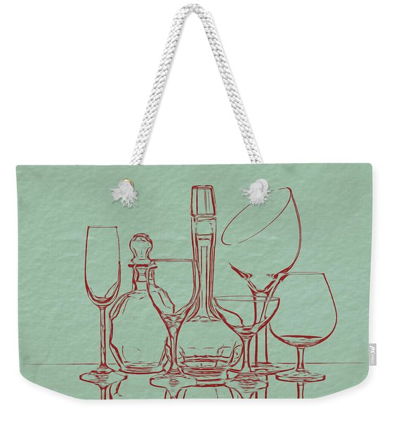 Wine Decanters With Glasses Weekender Tote Bag