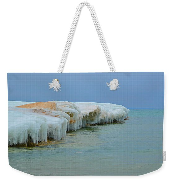 Winter Sculpting Weekender Tote Bag