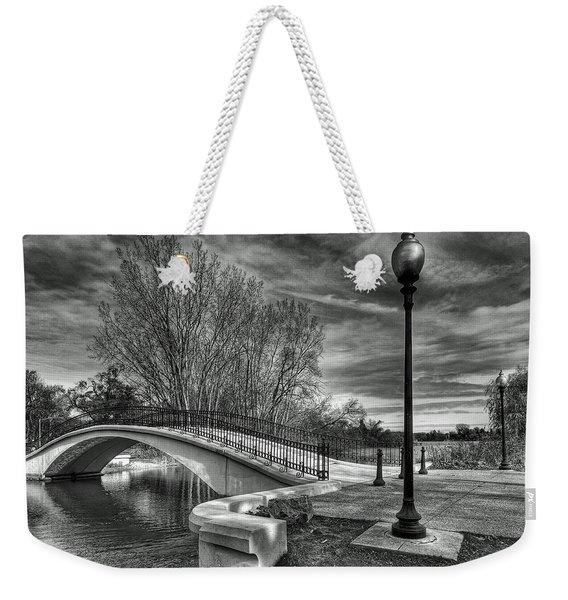 Winter's Bridge Weekender Tote Bag