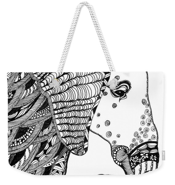 Wise Elephant Weekender Tote Bag