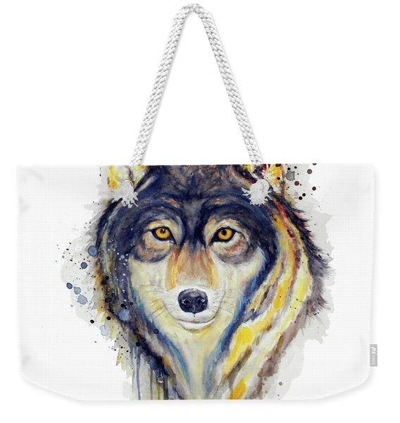 Wolf Head Weekender Tote Bag