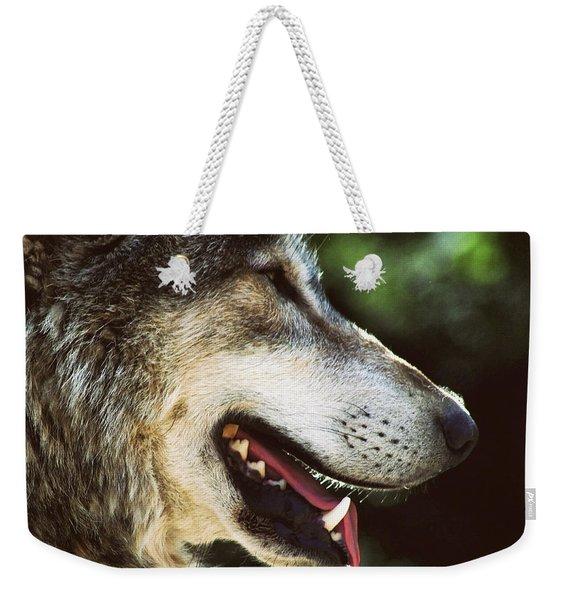 Wolf Portrait Weekender Tote Bag