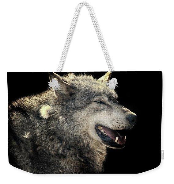 Wolf Rock Weekender Tote Bag