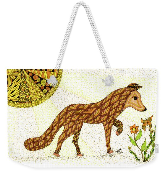 Weekender Tote Bag featuring the drawing Wonder by Barbara McConoughey