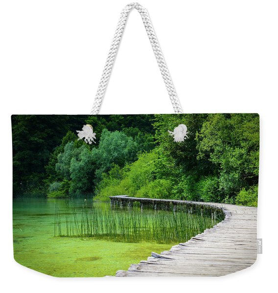 Wooden Path In The Forest Weekender Tote Bag