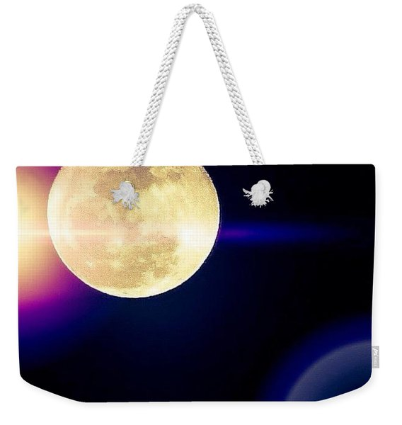 Wouldn't It Be Great If The #moon And Weekender Tote Bag