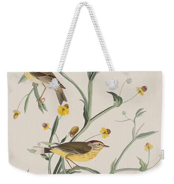 Yellow Red-poll Warbler Weekender Tote Bag