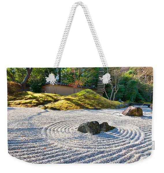 Zen Garden At A Sunny Morning Weekender Tote Bag