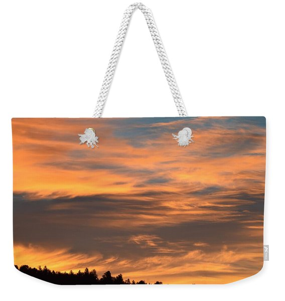 Weekender Tote Bag featuring the photograph Sunrise Ridge Cr511 by Margarethe Binkley