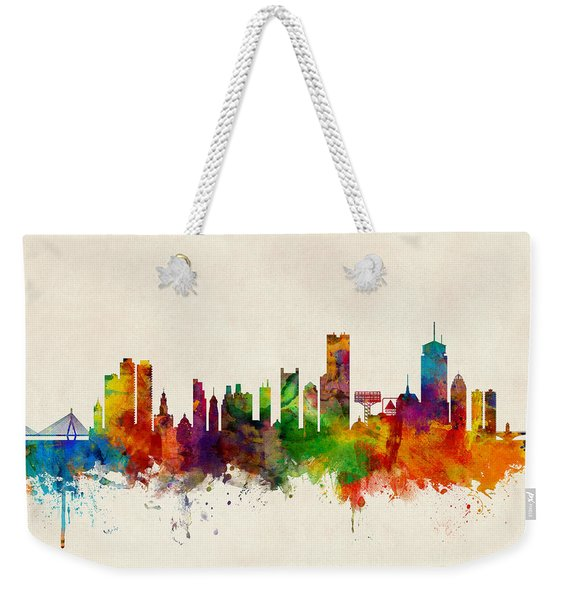 Boston Massachusetts Skyline Weekender Tote Bag