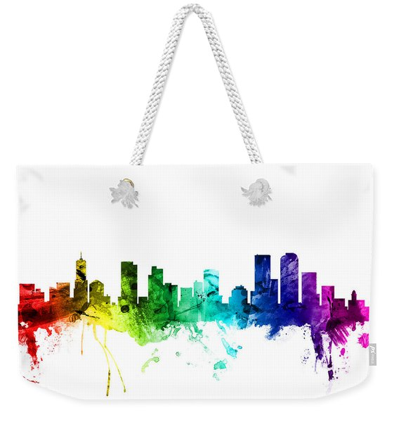 Denver Colorado Skyline Weekender Tote Bag