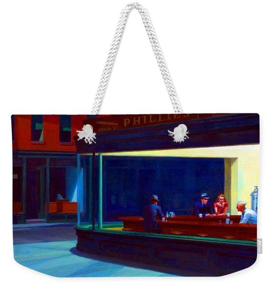 Nighthawks Weekender Tote Bag