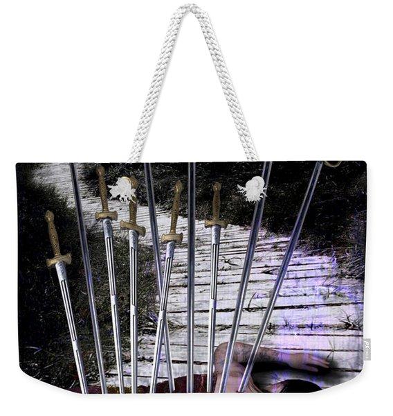 10 Of Swords Weekender Tote Bag