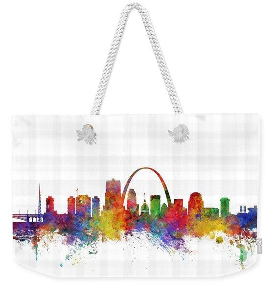 St Louis Missouri Skyline Weekender Tote Bag