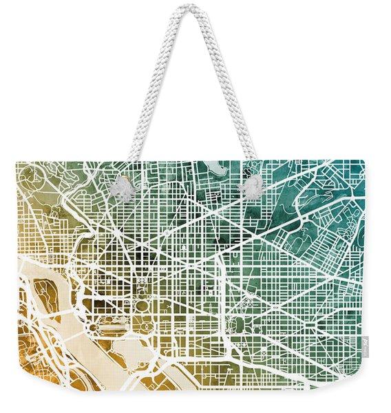 Washington Dc Street Map Weekender Tote Bag
