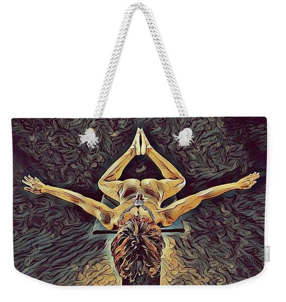 1038s-zac Dancer Flying On Pedestal Nudes In The Style Of Antonio Bravo  Weekender Tote Bag