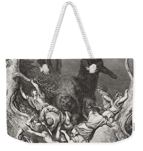 Engraving From The Dore Bible Weekender Tote Bag