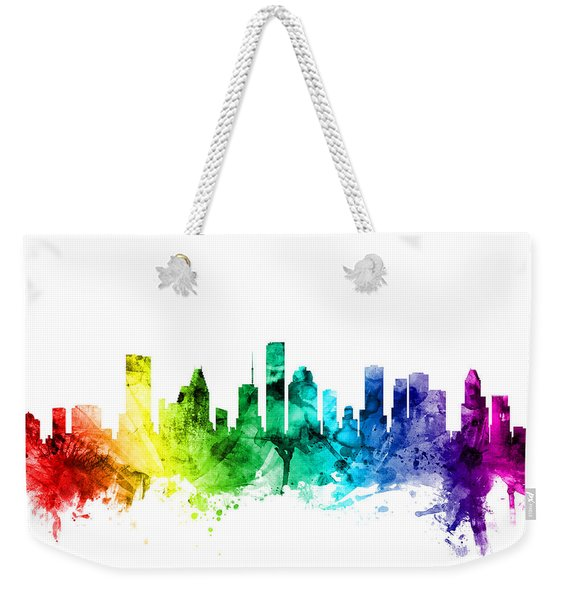 Houston Texas Skyline Weekender Tote Bag