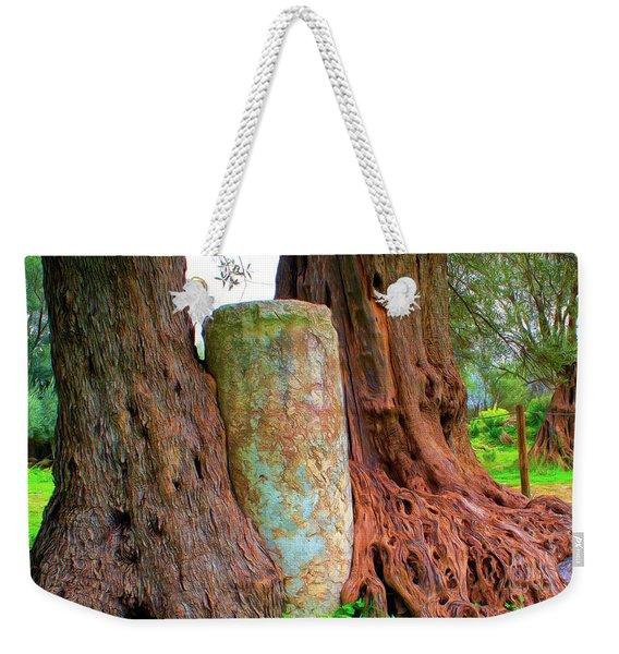 Old Olive Tree Weekender Tote Bag