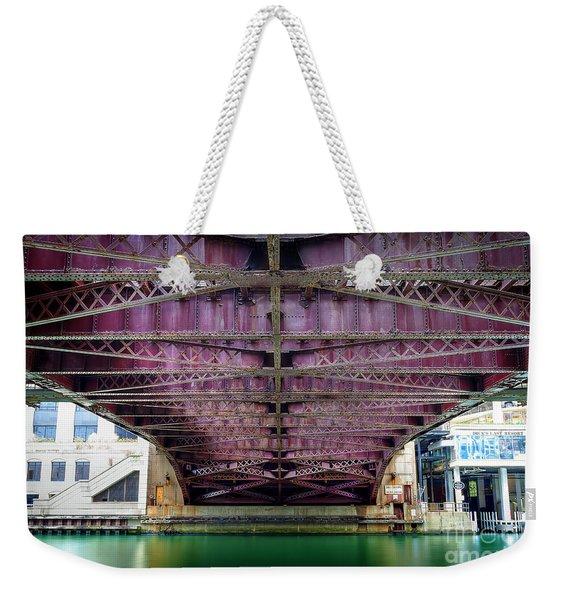 1136 Under The Dearborn Street Bridge Weekender Tote Bag
