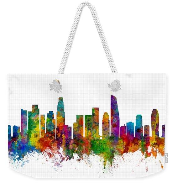 Los Angeles California Skyline Weekender Tote Bag