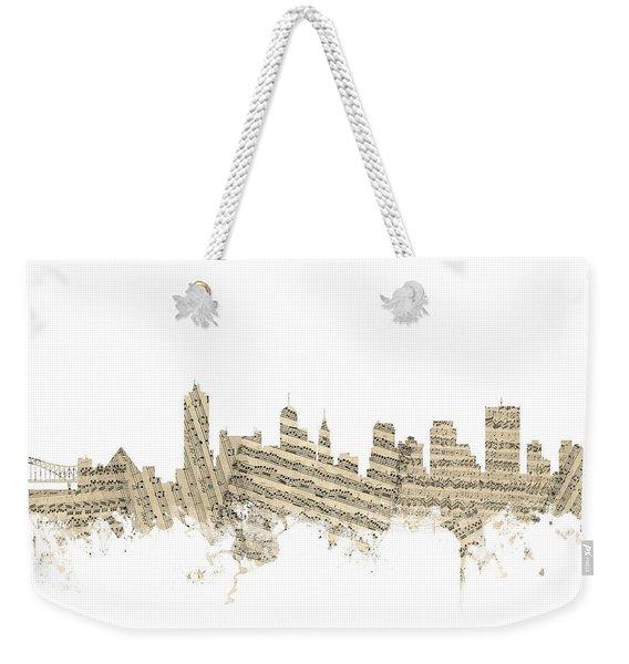 Memphis Tennessee Skyline Weekender Tote Bag