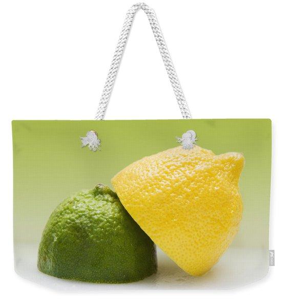12 Organic Lemon And 12 Lime Weekender Tote Bag