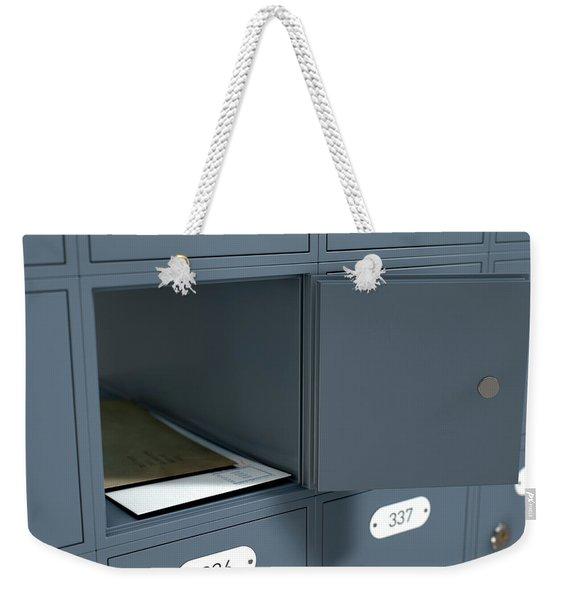 Post Office Boxes Weekender Tote Bag