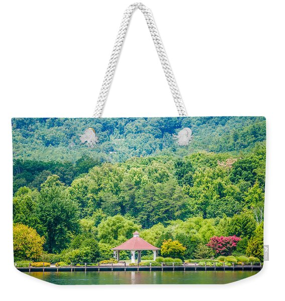 Scenery Around Lake Lure North Carolina Weekender Tote Bag