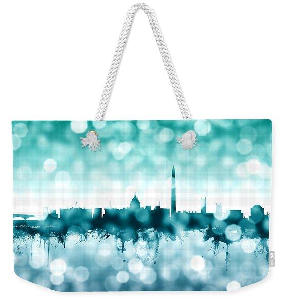 Washington Dc Skyline Weekender Tote Bag