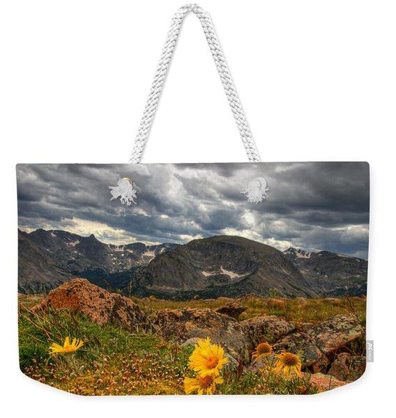 12000 Foot Flower Weekender Tote Bag