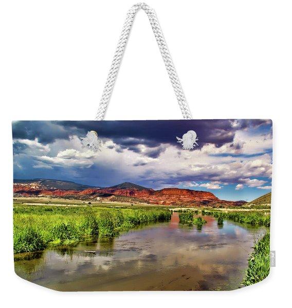Mountain Lake Weekender Tote Bag