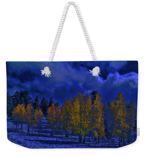 Rocky Mountain Fall Weekender Tote Bag