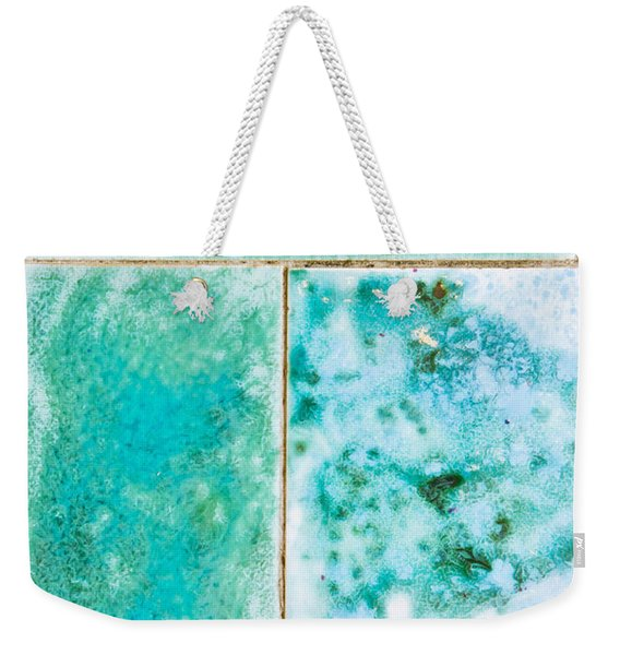 Blue Tiles Weekender Tote Bag