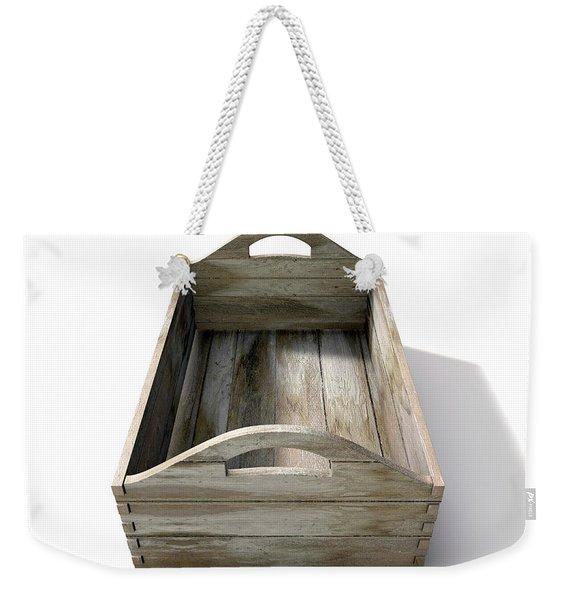 Wooden Carry Crate Weekender Tote Bag