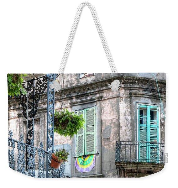 1358 French Quarter Balconies Weekender Tote Bag